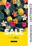 dark vector summer design with... | Shutterstock .eps vector #1647564673