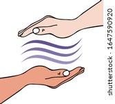 hands on healing showing hand...   Shutterstock .eps vector #1647590920