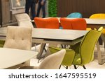 interior various chairs and big ... | Shutterstock . vector #1647595519