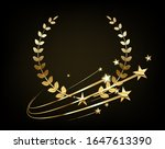 luxury 3d logo with a golden... | Shutterstock .eps vector #1647613390