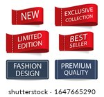 clothing labels collection....   Shutterstock .eps vector #1647665290