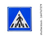 old crossing sign isolated on... | Shutterstock . vector #164767379