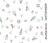seamless pattern with sweets... | Shutterstock .eps vector #1647694009