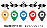 Eye  Global Icon In Location...