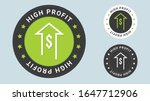 high profit insignia stamp.... | Shutterstock .eps vector #1647712906