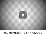 play video sign on transparent... | Shutterstock .eps vector #1647722083