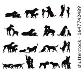 vector silhouette of collection ... | Shutterstock .eps vector #1647742489