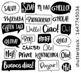 hello word in different... | Shutterstock .eps vector #1647745036