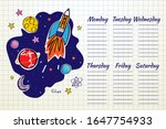 school timetable space graphic. ... | Shutterstock .eps vector #1647754933