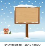 vector wooden signboard on... | Shutterstock .eps vector #164775500