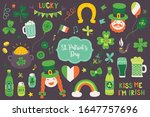 st. patrick's day elements  ... | Shutterstock .eps vector #1647757696
