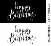 happy birthday inscription with ...   Shutterstock .eps vector #1647758629