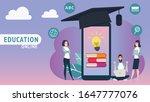 online education concept... | Shutterstock .eps vector #1647777076