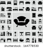furniture icons | Shutterstock .eps vector #164778530