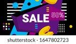 vector modern bright sale... | Shutterstock .eps vector #1647802723