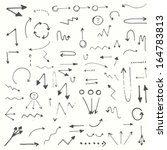 hand drawn simple arrows set... | Shutterstock .eps vector #164783813