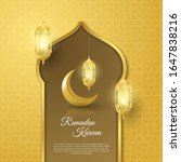 ramadan kareem greeting card...   Shutterstock .eps vector #1647838216
