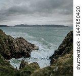 Rocks Atlantic Ocean Waves...
