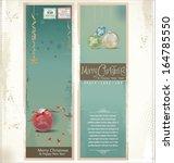 merry christmas retro banner ... | Shutterstock .eps vector #164785550
