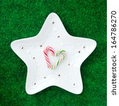 Candy Cane On A White Star...