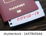 Coronavirus and travel concept. ...