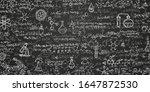 chemical formulas on a black... | Shutterstock .eps vector #1647872530