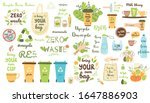 zero waste elements set recycle ... | Shutterstock .eps vector #1647886903