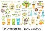 zero waste elements set recycle ... | Shutterstock .eps vector #1647886903