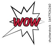 wow comic bubble expression.... | Shutterstock .eps vector #1647926260