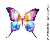 butterfly watercolor design | Shutterstock . vector #164792918