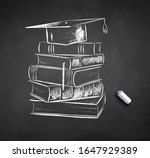 vector chalk drawn illustration ...   Shutterstock .eps vector #1647929389