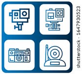set of photographic icons. such ... | Shutterstock .eps vector #1647930523