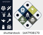 mystery icon set. 13 filled... | Shutterstock .eps vector #1647938170