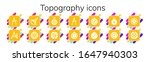 topography icon set. 14 filled... | Shutterstock .eps vector #1647940303