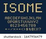 isometric 3d font design from... | Shutterstock .eps vector #1647956479