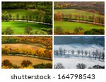 four seasons landscape with... | Shutterstock . vector #164798543