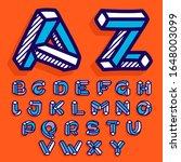 impossible shape flat alphabet. ... | Shutterstock .eps vector #1648003099