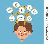 kid creativity  mindmap and... | Shutterstock .eps vector #1648006870