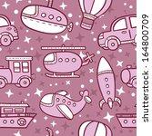 transportation pattern . vector ... | Shutterstock .eps vector #164800709