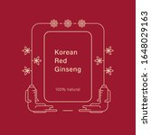 red korean or chinese ginseng... | Shutterstock .eps vector #1648029163
