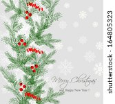 merry christmas and happy new... | Shutterstock .eps vector #164805323