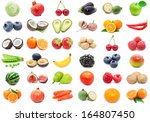 collection of various fruits... | Shutterstock . vector #164807450