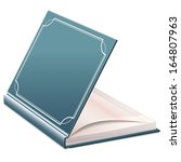 half open book with blank sheets   Shutterstock . vector #164807963