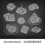 set of chalk sketches on... | Shutterstock .eps vector #1648088683