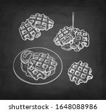 set of chalk sketches on... | Shutterstock .eps vector #1648088986