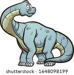 cartoon brachiosaurus standing... | Shutterstock .eps vector #1648098199