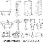 set of bathroom objects ... | Shutterstock .eps vector #1648116616
