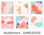 set of abstract memphis... | Shutterstock .eps vector #1648120153