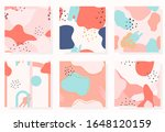 set of abstract memphis... | Shutterstock .eps vector #1648120159