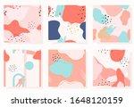 set of abstract memphis... | Shutterstock .eps vector #1648120159